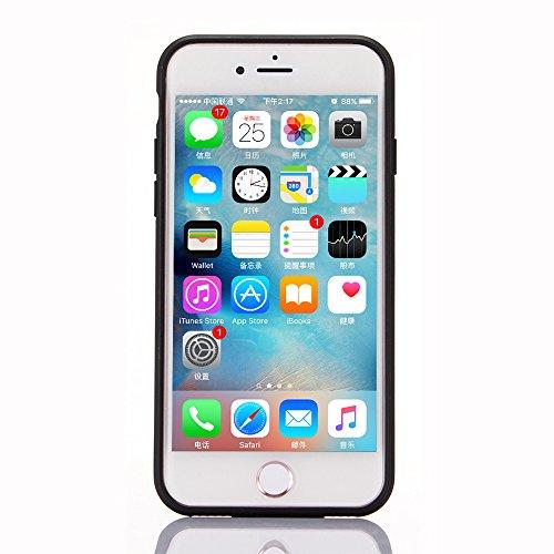 "iPhone 6sPlus Hülle, iPhone 6Plus Schwarze Silikontasche, CLTPY Ultra Hybrid 2 in 1 Plating TPU Schutzfall, Dünne Weben Muster Series Stoßfest Case für 5.5"" Apple iPhone 6Plus/6sPlus (Nicht iPhone 6/6 Rot A"