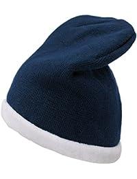 4sold Adulte Unisexe Skullies Fleece Beanie Bonnets Bonnet fourré hiver pour femme bonnet tricoté avec torsades en fourrure plusieurs coloris taille unique