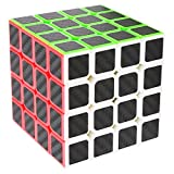 Speed Cube 4x4x4, LSMY Puzzle Mágico Cubo Carbon Fiber Sticker Toy