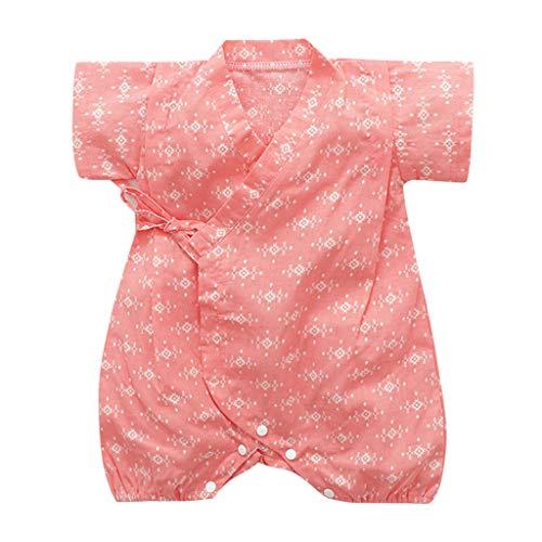YWLINK Verano Mezcla De AlgodóN BebéS Mono Retro Encaje Estilo JaponéS Albornoz Ropa Plegable Kimono...