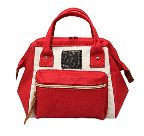 Ms. Messenger Bag Sacchetto Di Svago Oxford Stoffa Tre Bocca Grande Con Un Sacchetto Di Borsa Da Viaggio Di Piacere Rampa Zaino Portatile Red