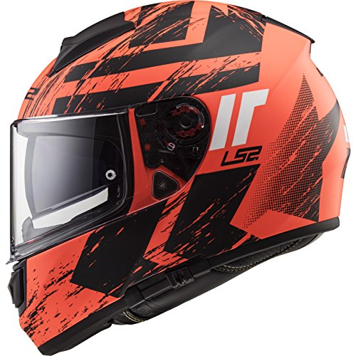 Preisvergleich Produktbild LS2 Motorradhelm Vector HPFC EVO FF397 FT2 HUNTER Integralhelm matt fluo orange / black Gr.3XL