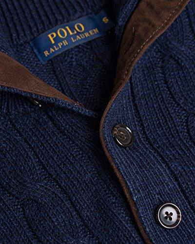 Ralph Lauren - Pull ralph lauren bleu foncé col camionneur Bleu