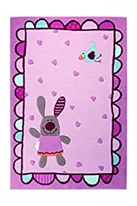 sigikid kinderteppich 3 happy friends hearts rose 70 x 140 cm. Black Bedroom Furniture Sets. Home Design Ideas