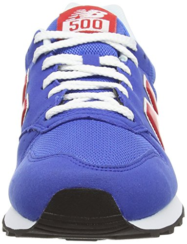 New Balance Gm500, Baskets Basses Homme Bleu (blue/red)