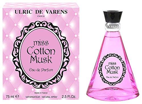 Ulric de Varens Miss Cotton Musk Eau de Parfum Femme, 75 ml