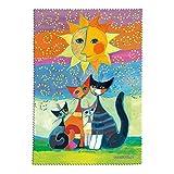 Fridolin 19801- Panno per la pulizia di occhiali, in microfibra, multicolore, 18x 12,5x 1cm, motivo: Wachtmeister, Momenti di felicità