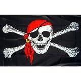 Image® 90*150cm jolly roger crâne et des os croisés drapeau de pirate 5X 3ft jardin bannière drapeau