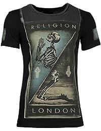 RELIGION Hommes T-Shirt WE LIVE DANS BLACK