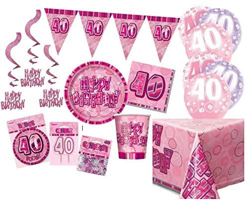 Unique Party Party Kit Color rosa 63758