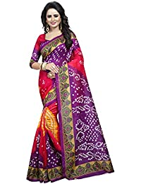 Harikrishnavilla Bhagalpuri Art Silk Multicolor Bandhani Printed Party Wear Wedding Wear Casual Wear Festive Wear...