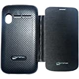 Aara Smart Flip Cover Carry Case for Micromax Bolt A27 - Black