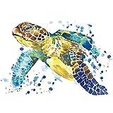 Color Bügeltransfer, DIN A4, Schildkröte | Textilien wie T-Shirts & Taschen mit Bügelmotiven verzieren | Bilder schnell & einfach aufbügeln | DIY Textildesign