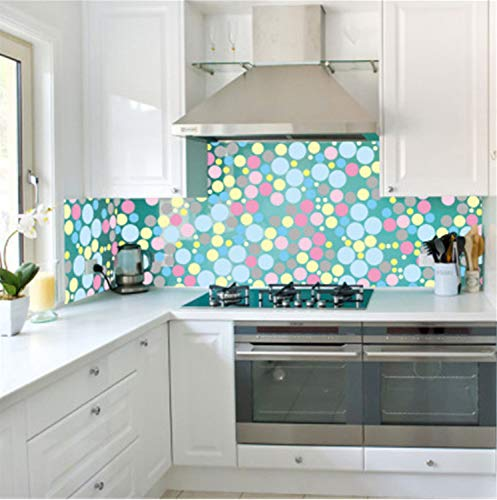 XQWZM Window Film 45X100Cm Frosted Glass Window Stickers On Bathroom 3D Colorful Dots Self-Adhesive Film Window Bathroom Glass Sticker Frosted Dots