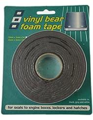 Vinyl Foam Tape Black 25mm x 3mm x 3m by PSP MAR.TAPES LTD