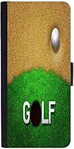 Snoogg ball in sand golf background Graphic Snap On Hard Back Leather + PC Flip Cover One Plus One