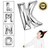 40 Zoll Silber schwimmende Alphabet K Ballon Geburtstagsfeier Dekorationen Folie Mylar Helium Buchstaben Ballons
