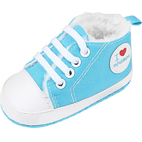 Fire Frog  Baby Sport Sneakers, Baby Jungen Lauflernschuhe Hellblau