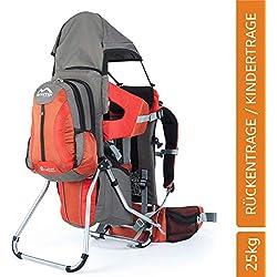 MONTIS Explore Evolution - Porte-bébés/Porte-Enfants Dorsal - jusqu'à 25kg - 2000g - Orange/Rouge