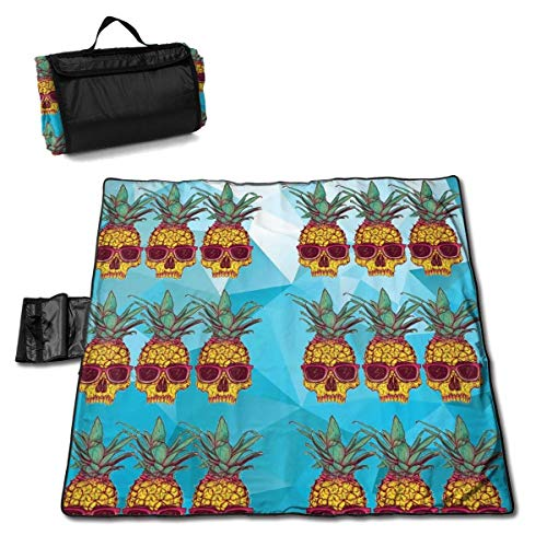 Pineapple Head of Death Extra Large Picnic Blanket 57
