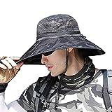 SIYWINA Cappello da Uomo di Pesca del Cappelli con Protezione UV per attività all'aperto