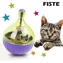 FISTE Pet Kleine Hunde und Katzen Füttern Bälle für interaktives IQ Treat Training Spielzeug langsam Füttern Lösung wird nicht ABS auslaufen werden Lebensmittel Spielzeug