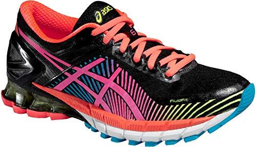 ASICS Gel-Kinsei6 Chaussures de Running Femme, Noir/Rose, 37