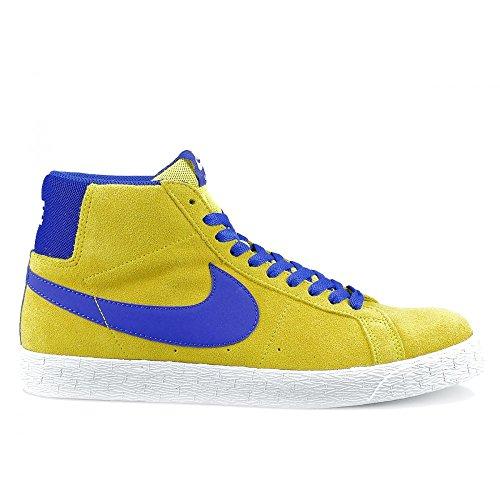 Nike Skateboarding Zoom Blazer Mid, Herren Durchgängies Plateau Sandalen mit Keilabsatz , gelb - Yellow Blue - Größe: 41
