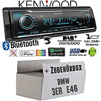 Autoradio-Radio-Kenwood-KMM-BT504DAB-DAB-Bluetooth-iPhoneAndroid-Spotify-VarioColor-Einbauzubehr-Einbauset-fr-BMW-3er-E46-JUST-SOUND-best-choice-for-caraudio