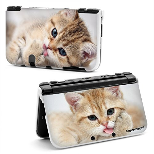 supremery-new-nintendo-3ds-xl-case-hlle-kunststoff-shell-hard-cover-katze-3