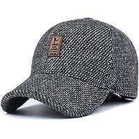 Sombrero de gorra de béisbol, sombrero de deporte Snapback para hombres y mujeres - sombrero de deporte ajustable sol de deporte para la pesca de viajes de golf (Gris claro)