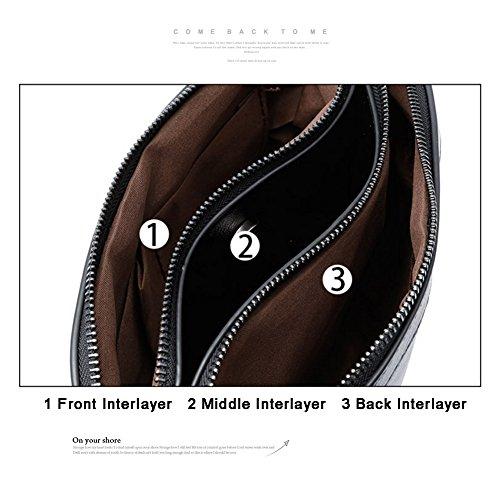 Yoome Diagonale Stripe Retro borsa pura di pura borsa di grande capacità borse per le donne - rosa Nero