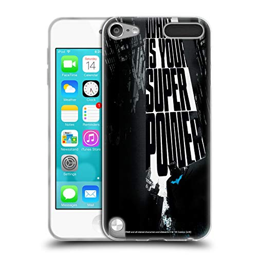 Head Case Designs Offizielle Batman DC Comics Super Power Dualitaet Soft Gel Huelle kompatibel mit Apple iPod Touch 5G 5th Gen