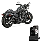 Scarichi Shortshots Vance & Hines Neri x Harley Davidson Sportster Superlow XL883L, Sportster 883R, Iron 883 XL883N, Forty-Eight XL1200X, Seventy-Two XL1200V, 1200 Custom XL1200C, Roadster XL1200CX, Superlow 1200T XL1200T DAL 2014 AD OGGI 14-UP + Centralina V&H FP3