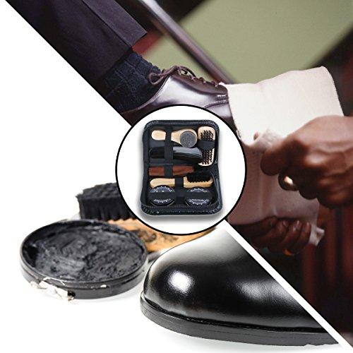 Kit-Set-per-Pulizia-Scarpe-con-7-accessori-in-Elegante-Custodia
