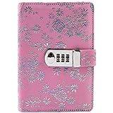 yakri A6 cuaderno bloqueo de contraseña con cerradura diario libro Manual de Creative contraseña diario cuaderno