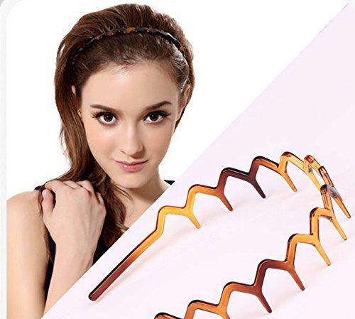 Huihuger Fashion Flexiable Gewellte Haarreifen für Sport
