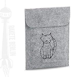 Tablet Filzhülle 'Katze Mauz – gezeichnet'