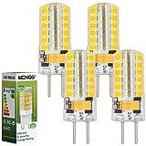 MENGS® 4 Stück GY6.35 4W LED Lampe Warmweiß 3000K AC/DC 12V 48x2835 SMD Mit Silikon Mantel