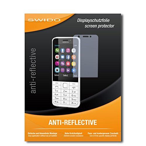 SWIDO Bildschirmschutz für Nokia 230 Dual SIM [4 Stück] Anti-Reflex MATT Entspiegelnd, Hoher Härtegrad, Schutz vor Kratzer/Glasfolie, Schutzfolie, Bildschirmschutzfolie, Panzerglas Folie
