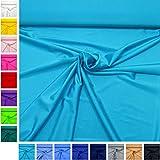 MAGAM-Stoffe ''Alison'' in 16 Farben | Jersey Uni | sehr hochwertiger Stretch-Stoff für Sport- und Bademoden | Meterware ab 50cm | QX-9 (09. Türkis)