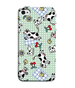 Snapdilla Designer Back Case Cover for Apple iPhone 4 (Wallpaper Illustration Backcover Pouch Decoration Texture)