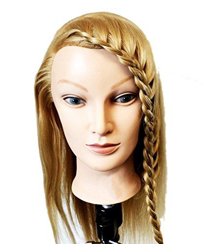Tête de mannequin pour la formation des coiffeurs. Longs cheveux blonds. cheveux doux   Formation professionnelle des coiffeurs by RIVENBERT