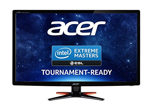 Acer GN246HLBbid 24 inch diverse FHD LED Gaming Monitor utilizing 144 Hz, 1 ms, 350 nits, DVI, HDMI, Acer EcoDisplay - Black UK