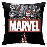 DailiH Marvel Hero 1 Throw Fundas de Almohada - Fundas de Almohadas Decorativas para el hogar Cojines Cuadrados 18 x 18 Pulgadas Dos Lados Impresos
