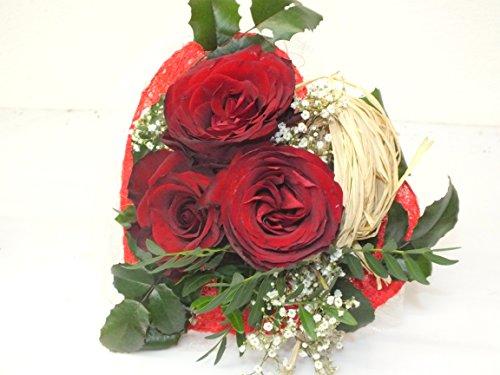 VERSANDKOSTENFREI Blumenstrauß kleines Herz +kostenloser Geschenkkarte Blumenversand