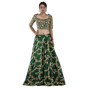 Gyans Women's Silk Lehenga Choli