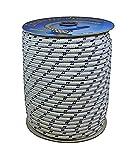 Corderie Italiane 6006015–00- Corde Nautique, 5mm, 100m, blanc, avec étiquette en plastique bleu, couleur : blanc avec marqueur bleu