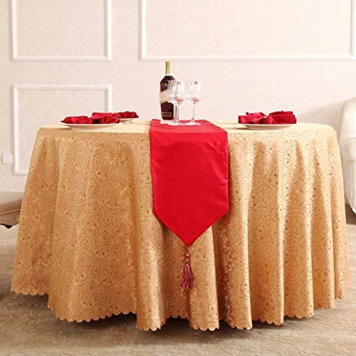 platte Tischdecke Tischdecke Tischdecken Europäischen Amerikanischen Stil Restaurant Hotel Runde Tischdecke Lila Braun Essen Chemische Faser Stoff Mehrzweck Innen und Außen, BOSSL ()