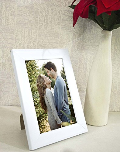 Painting Mantra Synthetic White Wall/Table Photo Frame (6 inches x 8 inches,...